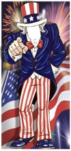 uncle sam life sized cutout